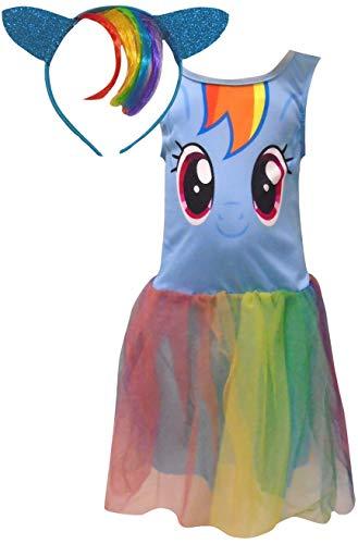 Thingimijigs Mein kleines Pony Mädchen Tutu Kleid & Stirnband (3-4 Jahre, Blau)