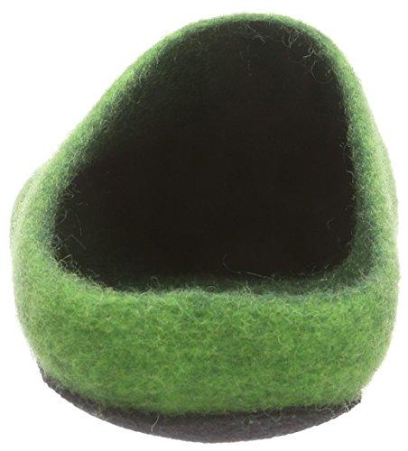 Kitz - Pichler Ju 720, Pantoufles non doublées mixte adulte Vert - Grün (green 4801)
