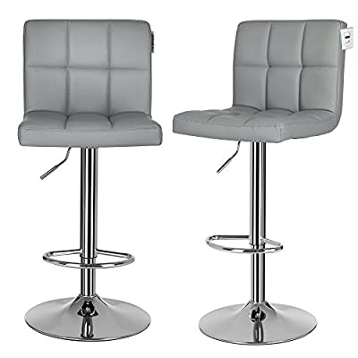 Songmics 2 x Bar Stools UK LJB64G - low-cost UK light store.