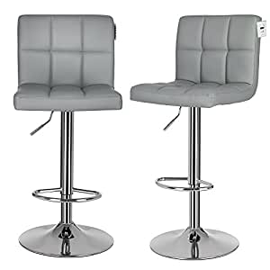 grey breakfast bar stools songmics 2 x bar stools chairs with large seats breakfast 123