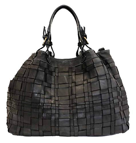 BZNA Bag Marta schwarz Italy Designer Damen Handtasche Schultertasche Tasche Schafsleder Shopper Neu -