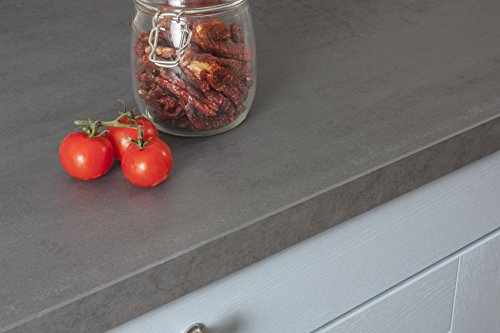 Betonoptik - Resopal Küchenarbeitsplatten (4.1m × 600mm × 38mm)