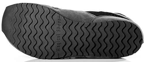 Magical Shoes Explorer Vegan Barfußschuhe | Damen | Herren | Jugendliche | Laufschuhe | Zero Drop | Flexibel | Rutschfest, Größen:44/282mm, Farbe:MS Explorer Vegan - Grau/Schwarz - 4