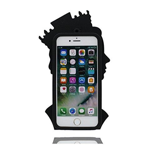 iPhone 6s Custodia, TPU protezione iPhone 6 Copertura 4.7, Case Cartoon Tdurevole Cover - ( 3D salsa piccante ) iPhone 6S shell 4.7 Anti-Graffi Nero