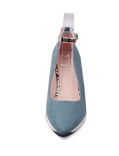 WSS 2016 Chaussures Femme-Extérieure / Habillé / Décontracté-Bleu / Marine-Talon Compensé-Compensées / Talons / Nouveauté / Bout Pointu / Bout dark blue-us5.5 / eu36 / uk3.5 / cn35