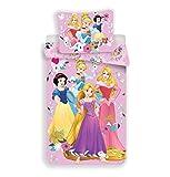 Disney Princesses - Copripiumino per bambini, 140 x 200 cm, federa 70 x 90 cm, 100% cotone
