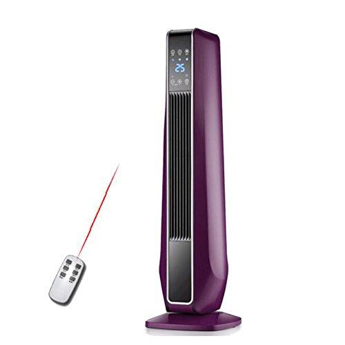 Radiateurs électriques YIXINY KPT-22 Télécommande Vertical Écran Bleu LCD Chauffage Céramique PTC 2000W Violet
