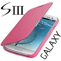 Flip Tasche Samsung Galaxy S3 Neo Gt - i9301i Schutz Hülle Case Cover Pink