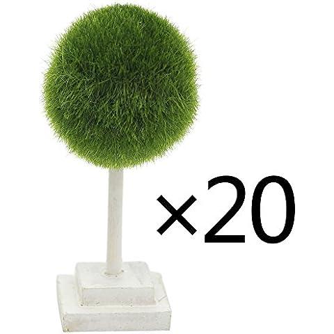 Vimi Mini artificiali Piante e alberi, scrivania da ufficio decorazione, Palla Verde, 12cm (Confezione da 20)