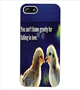 ColourCraft Image with Quote Design Back Case Cover for APPLE IPHONE 5