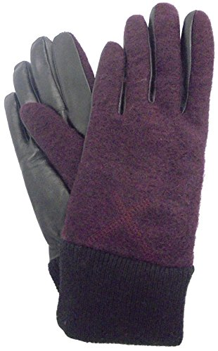 UGG Women's Fabric Smart Gloves with Knit Trim Port SM/MD (Uggs Womens Knit)