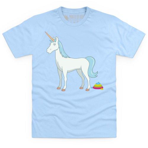Unicorn Poop T-Shirt, Herren Himmelblau