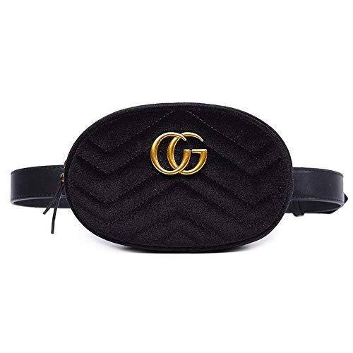 MISSKEKE Damen Geldbörse Mini Handy Tasche - ❤️ Stern mit dem gleichen Absatz Samt Brustbeutel samt ovalen Taschen Umhängetasche Damen klein Handtasche (Schwarz Samt CG) -