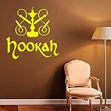 rylryl Cachimba calcomanías de vinilo pegatinas de vinilo Shisha Store Logo Decor Relax Árabe Interior de la casa Murales de arte calcomanías de dormitorio 57x57 cm
