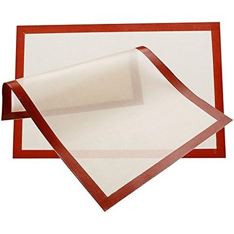 Betroice nuevo estilo 2 Paquete SILICONA BAKING MAT 40 X 30cm - Profesionales de alta calidad de grado - reutilizable, flexible, antiadherente, fácil de limpiar Bandeja de horno