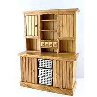 Casa Di Bambole Mobili Cucina In Miniatura Large Rovere Cassettiera con Basket Comodino con cassetti