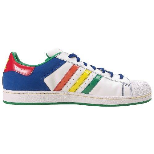 Adidas Herren SUPERSTAR 2CB Casual Schuh White, Multicolour