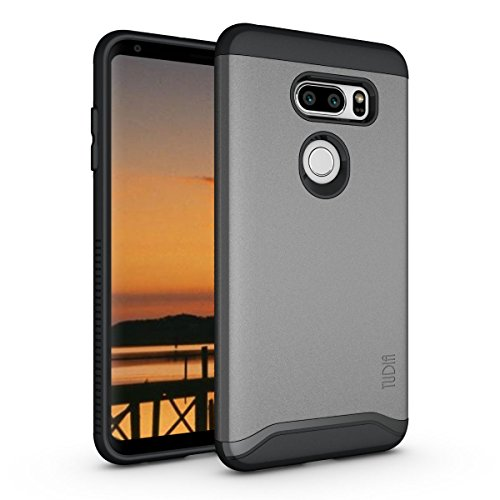 TUDIA LG V35 ThinQ Hülle, Slim-Fit Merge Dual Layer Schutzhülle für LG V35 ThinQ (Metallic Slate)