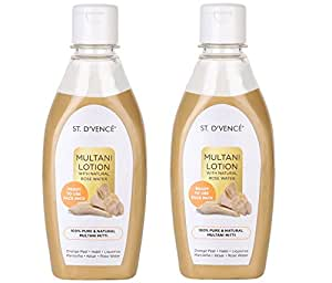 ST. D'VENCE Multani Mitti Lotion With Natural Rose Water (275 ml (Pack of 2))