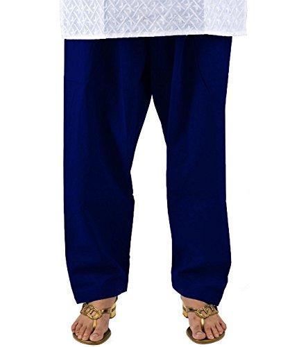 Pistaa Women's Royal Blue Comfort Cotton Readymade Salwar
