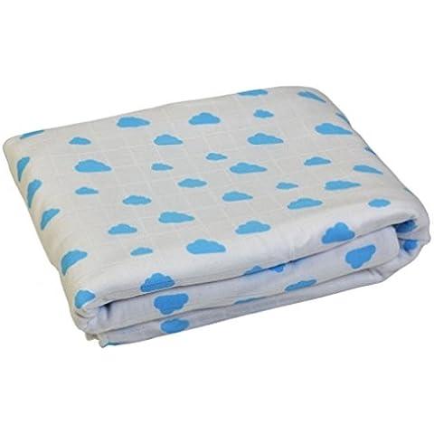 De cama de algodón orgánico Maya de Gloop con mangas para bebé manta de forro polar
