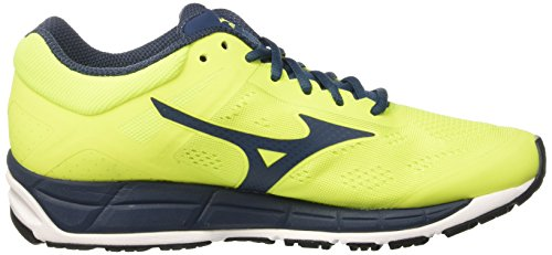 Mizuno Synchro Mx, chaussures de course homme Multicolore (SafetyYellow/MajolicaBlue/White)