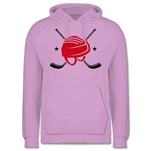 Shirtracer Eishockey - Helm Eishockeyschläger - M - Lavendel - JH001 - Herren Hoodie