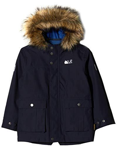 Jack Wolfskin Jungen B ELK Island 3IN1 Parka Night Blue, 176 Fleece-pullover Golf