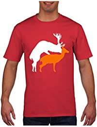 Rude Funny Reindeer Doggy Style T Shirt Santa Claus Mens Womens Kids