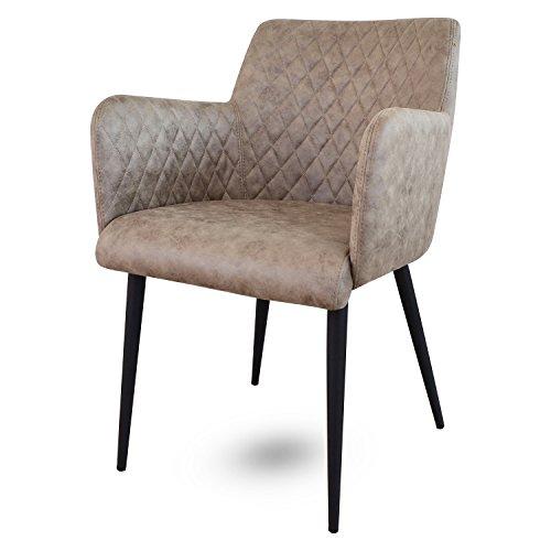 Damiware Rose Stuhl   Design Wohnzimmerstuhl Esszimmerstuhle Bürostuhl mit Stoffbezug   (Dessert)