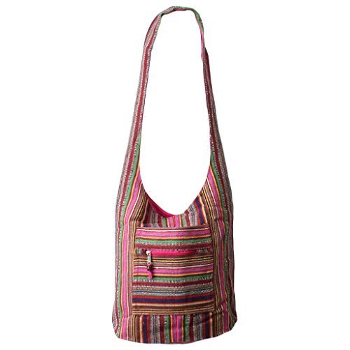Caravan, Borsa a spalla donna M Pink Multi