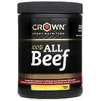 Crown Sport Nutrition 100% All Beef Proteína de Carne, Suplemento para Deportistas, Sabor