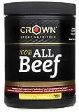 Crown Sport Nutrition 100% All Beef Proteína de Carne, Suplemento para Deportistas, Sabor de Vainilla, 200 gr