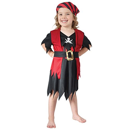 Girls Age 2-3 Years Pirate Costume Toddler Red Childrens Kids Book Week Fancy Dress Outfit by Bristol ()