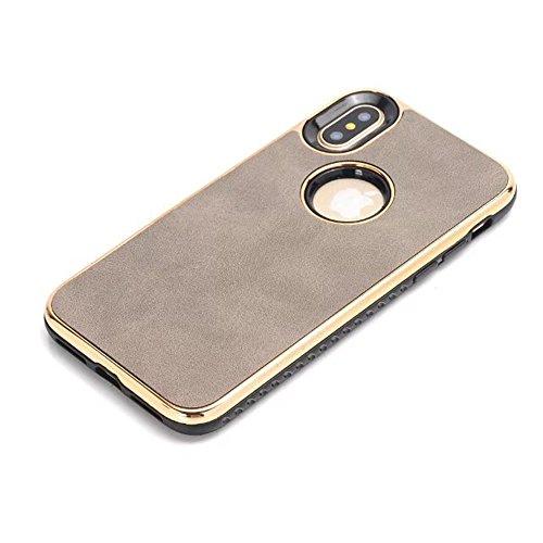 JIALUN-étui pour téléphone Pour IPhone X Edition, PC double couche + TPU double couche PC + TPU Hybride Shell Cover Case [Antichoc] ( Color : Black ) Gray