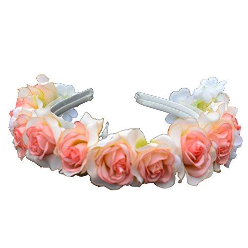 Zoelibat-Cerchietto per capelli con rose artificiali fiori steckreif-Taglia unica