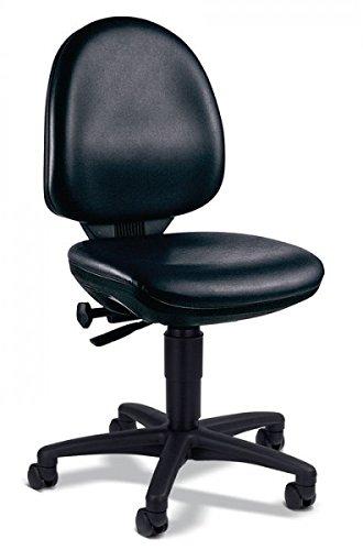 Preisvergleich Produktbild Arbeitsdrehstuhl schwarz Kunstleder Sitz-H.420-550mm Muldensitz
