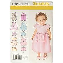 A - Patrones de costura para vestidos y conjuntos de bebé (tallas