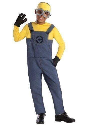 Jungen Mädchen Kinder Minion Ich - Einfach Unverbesserlich Offiziell Lizenziert Büchertag Halloween Kostüm Kleid Outfit - grau, 3-5 (Minion Despicable Kostüme Kind Me Mädchen)