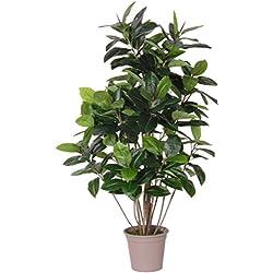 Gummibaum grün Double–Pflanze Kunstpflanze Deko Innenraum–Hohe 125+ 150cm