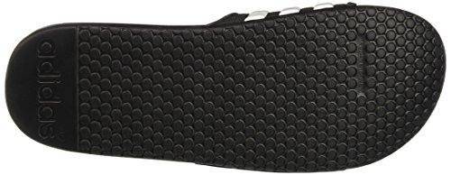adidas Adissage 2.0 Stripes, Scarpe da Spiaggia e Piscina Uomo Nero (Core Black/Ftwr White/Core Black)