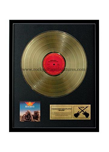 RGM1245 Aerosmith - Rock In A Hard Place Gold überzogene 12 '' LP von Rock Guitar Miniatures (Aerosmith Sammlerstücke)