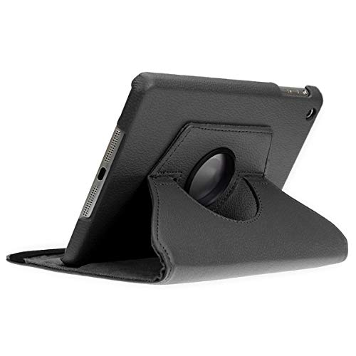 doupi Deluxe Schutzhülle für iPad Mini 1 2 3, Smart Case Sleep/Wake Funktion 360 Grad drehbar Schutz Hülle Ständer Cover Tasche, schwarz (Smart Ipad Apple 2 Mini Case)