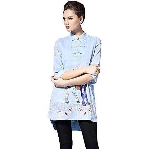 FuYongSanNi Il piatto cinesedonne gonna stile cotone ricamato abbigliamento casual 7705