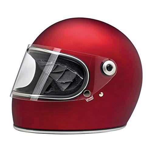Casco Integral Gringo S biltwell Rojo Mate Flat Red homologado Doble homologación ECE (Europa) & Dot (América) Helmet Biker Custom Vintage Retro año 70 M Rojo