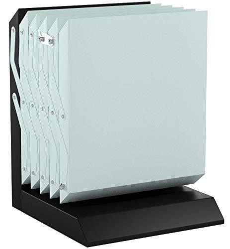 Loywe Prospektständer 5 Körbe aus Metall, mit Tragtasche, Prospekthalter Katalogständer Flyerständer Infoständer LW3525