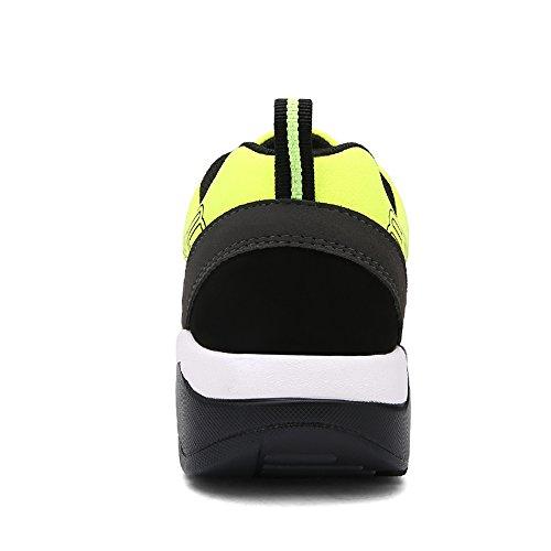 Flyhigh Uomo Donna Scarpe Da Sportive Running Basket Sneakers Estive Nero Rosso Blu Verde arancia Nero/Verde