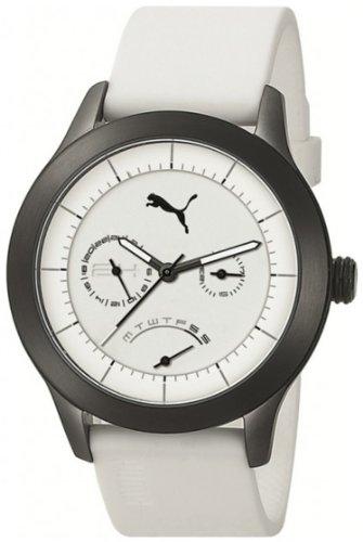 PUMA TIME PU102681003 - Reloj unisex, correa de poliuretano color blanco