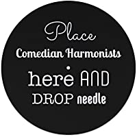 """Place Comedian Harmonists here and drop the needle 12"""" slipmat"""
