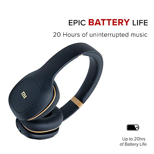 Mi Super Bass Wireless Headphones with Super Powerful bass, up to 20hrs Battery Life, Bluetooth 5.0 (Black and Gold) Image 2